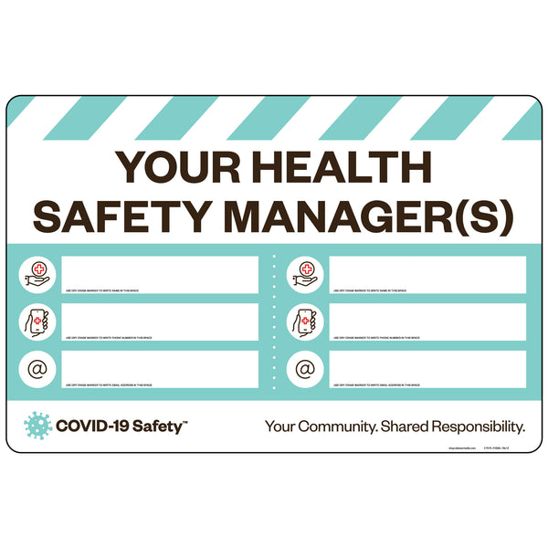 "Your Health Safety Manager(s) (18""x12"")"