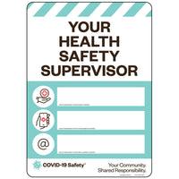 "Your Health Safety Supervisor (10""x14"")"