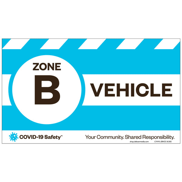 "Zone B Vehicle Car Card (8.5""x5"")"