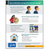 "CDC Poster: Cloth Face Coverings (12""x15.375"")"