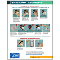 "CDC Poster: Respirator On/Off (12""x15.5"")"