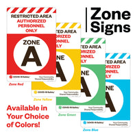 "Access Point Zone B, for Sandwich Board (24""x36"")"
