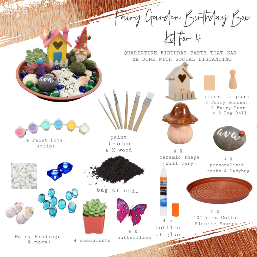 Fairy Garden Birthday Box | Party for 4