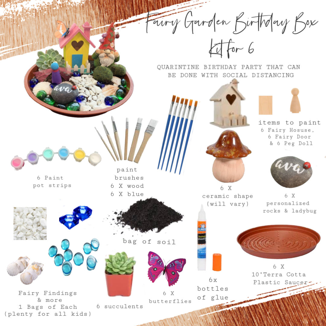 Fairy Garden Birthday Box | Party for 6