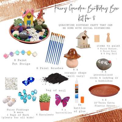 Fairy Garden Birthday Box | Party for 8