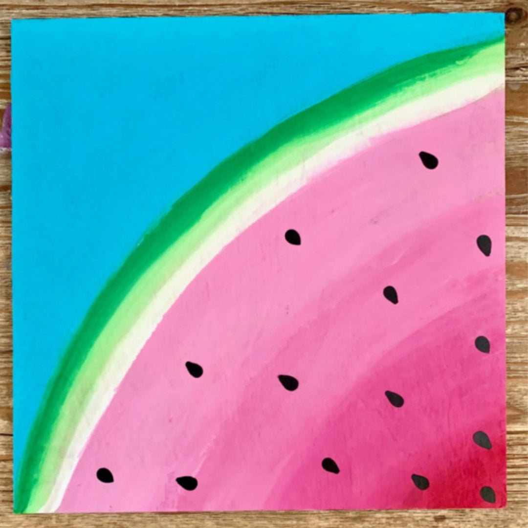 Watermelon Painting on Wood Board- Kit for Kids