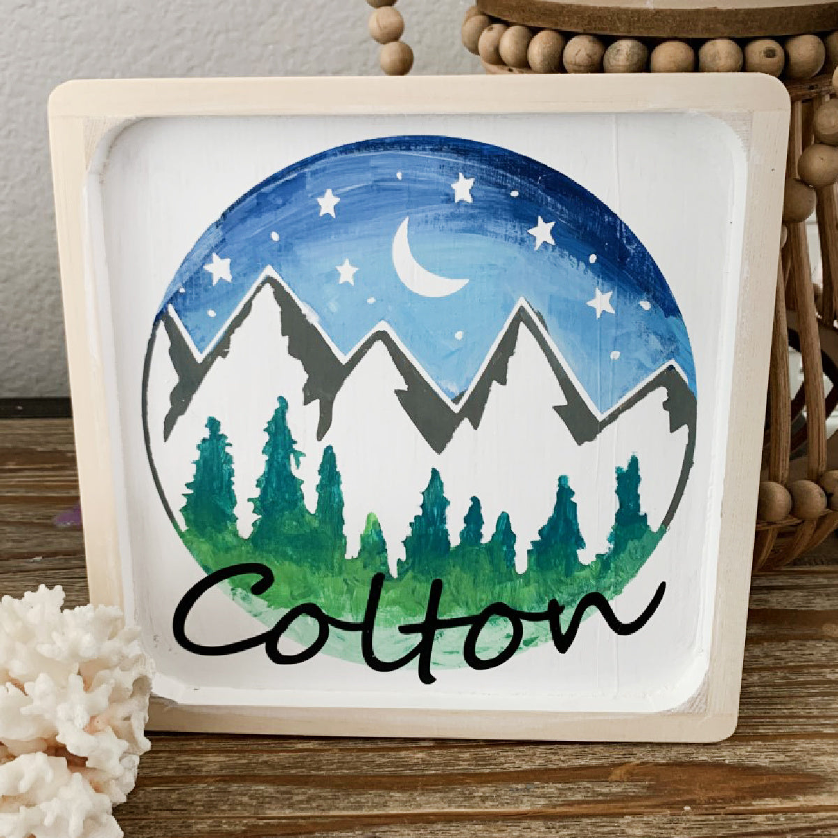 DIY Personalized Mountain Painting Kit