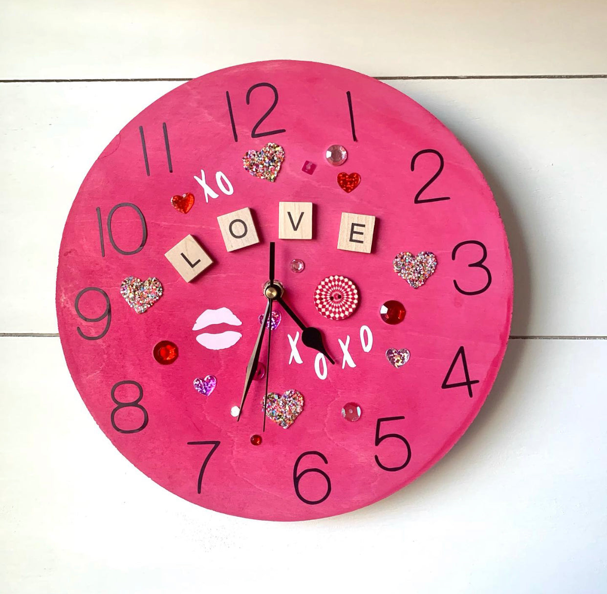 """Love You Big Time"" Clock 
