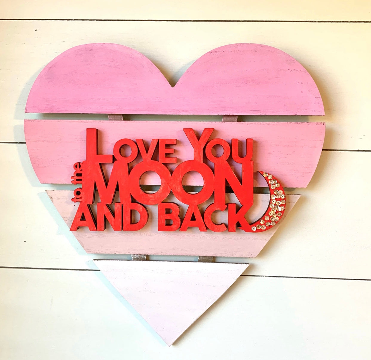"""Love You to the Moon and Back"" Heart Sign 