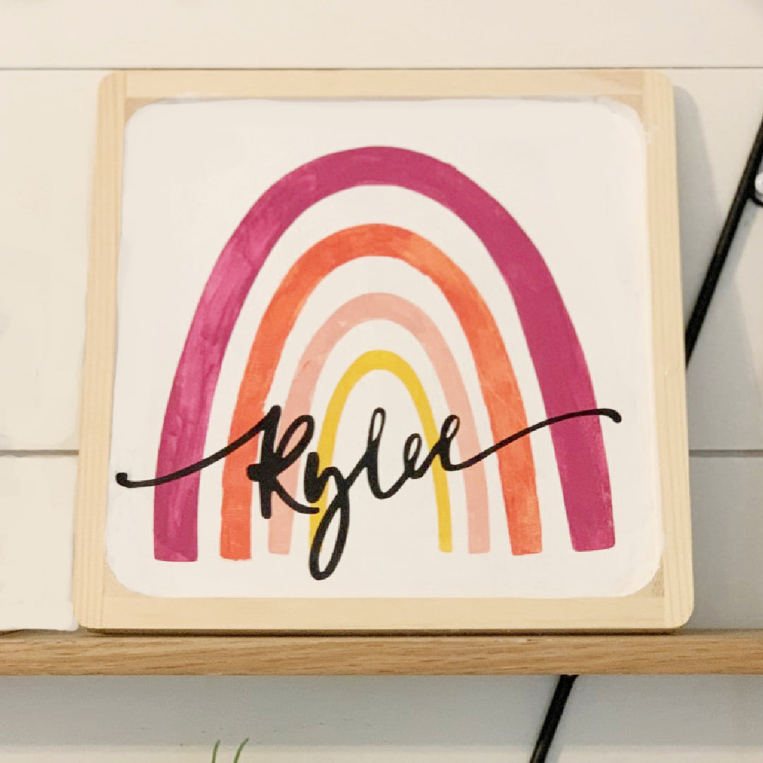 DIY Personalized Rainbow Painting Kit