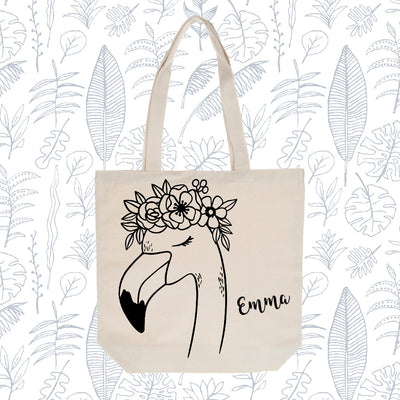 DIY Personalized Stencil Tote Bag- Natural Canvas