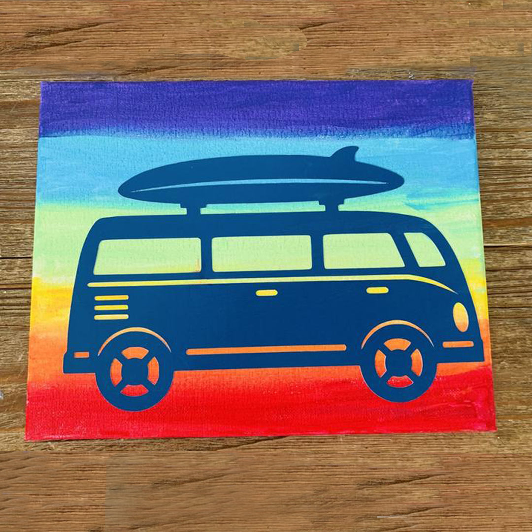 DIY Canvas Painting |Painting Kit | Surf Van | Kids Craft