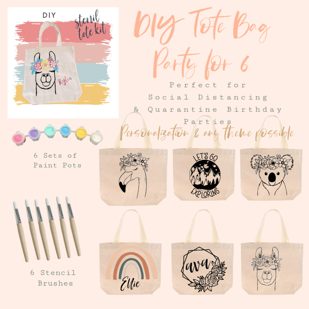 Party in a Box | DIY KIt | Tote Bag Party for 6
