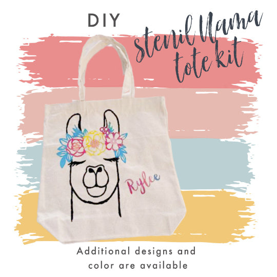 DIY Stencil Tote Bag Kit | Painting Kit | Diy Kit for Kids