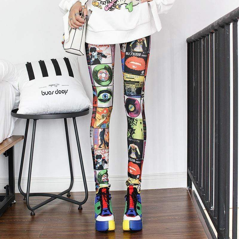 Fashion Leggings Casual Highly Elastic and Colorful - Shop women fashion clothing, Fragrances & skin, perfumes, shoes & accessories online !
