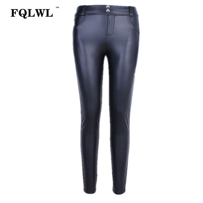 Faux Pu Leather High Waist Leggings For Women - Shop women fashion clothing, Fragrances & skin, perfumes, shoes & accessories online !
