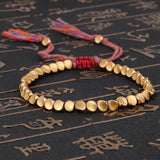 Handmade Tibetan Buddhist Braided Cotton Copper Beads Lucky Rope Bracelet - Shop women fashion clothing, Fragrances & skin, perfumes, shoes & accessories online !