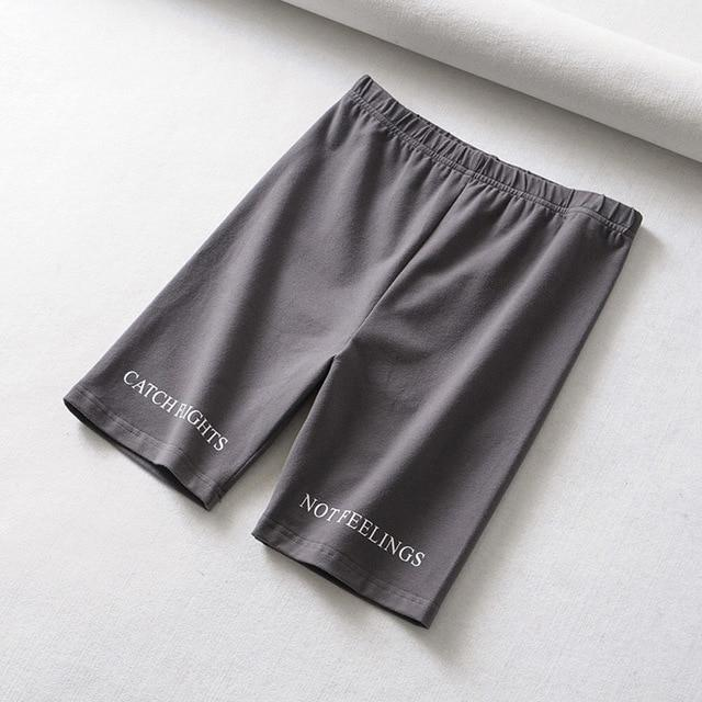 High waist casual sexy short Letter print black shorts - Shop women fashion clothing, Fragrances & skin, perfumes, shoes & accessories online !