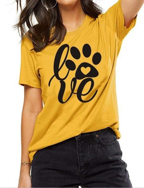Love Paw T-Shirt Tee Women funny graphic - Shop women fashion clothing, Fragrances & skin, perfumes, shoes & accessories online !