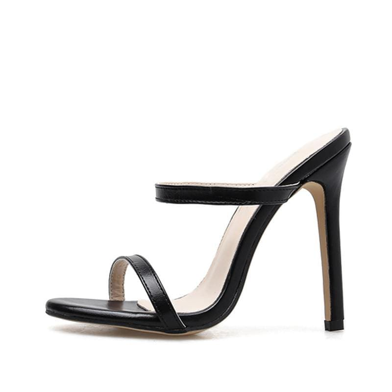 Open Toe Rome Black Brown High Heel Shoes - Shop women fashion clothing, Fragrances & skin, perfumes, shoes & accessories online !