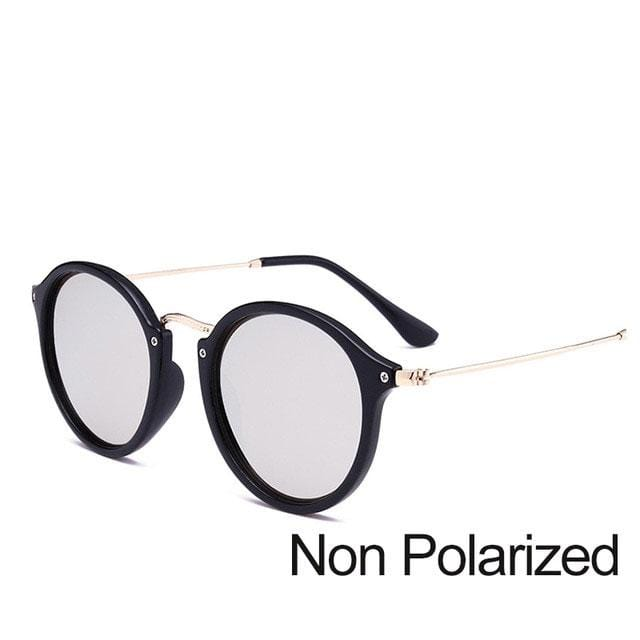 Round Sunglasses coating Retro Women - Shop women fashion clothing, Fragrances & skin, perfumes, shoes & accessories online !