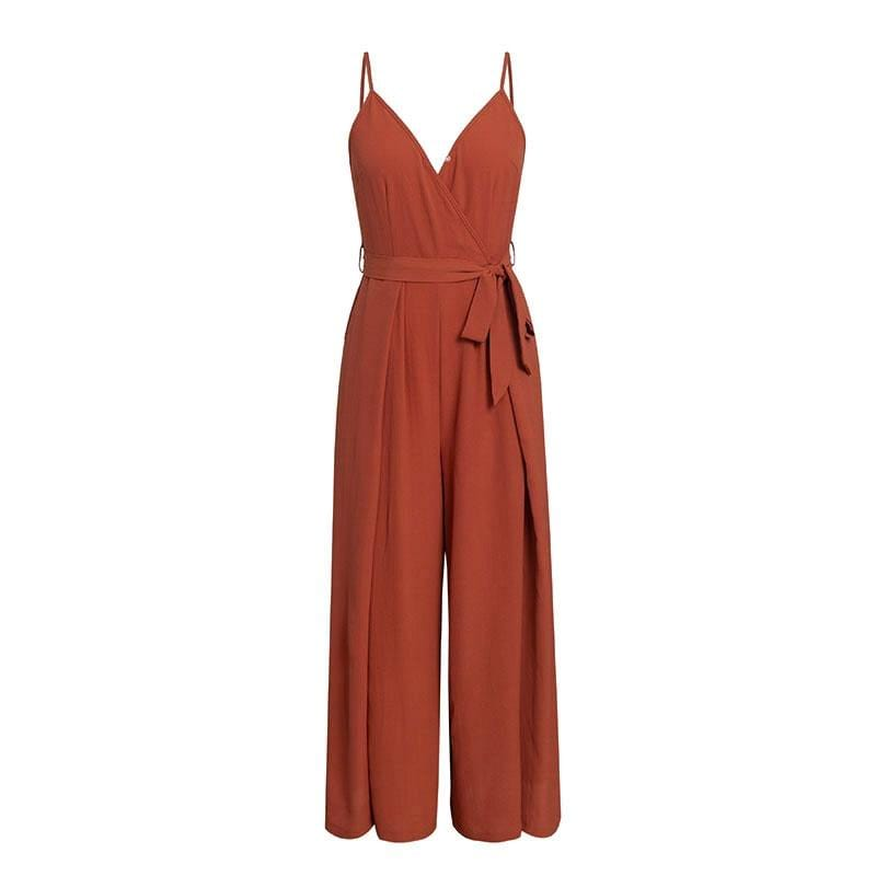 Sexy floral print jumpsuits women V neck split spaghetti strap jumpsuit - Shop women fashion clothing, Fragrances & skin, perfumes, shoes & accessories online !