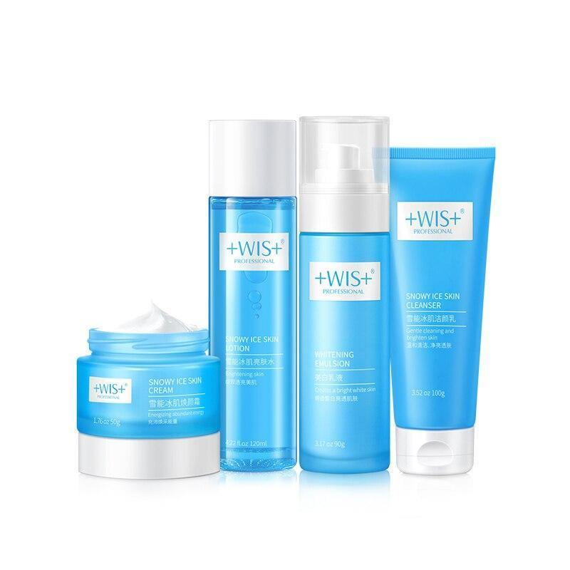 WIS Snowy Ice Skin Face Set Whitening+Cleanser+Lotion+Cream+Emulsion - Shop women fashion clothing, Fragrances & skin, perfumes, shoes & accessories online !