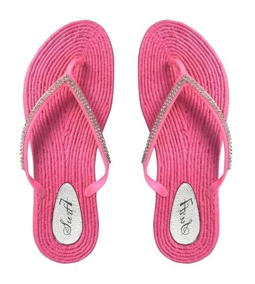 Womens Rope Sole Rhinestone Beaded Casual Sandals Flats Flip Flops - Shop women fashion clothing, Fragrances & skin, perfumes, shoes & accessories online !