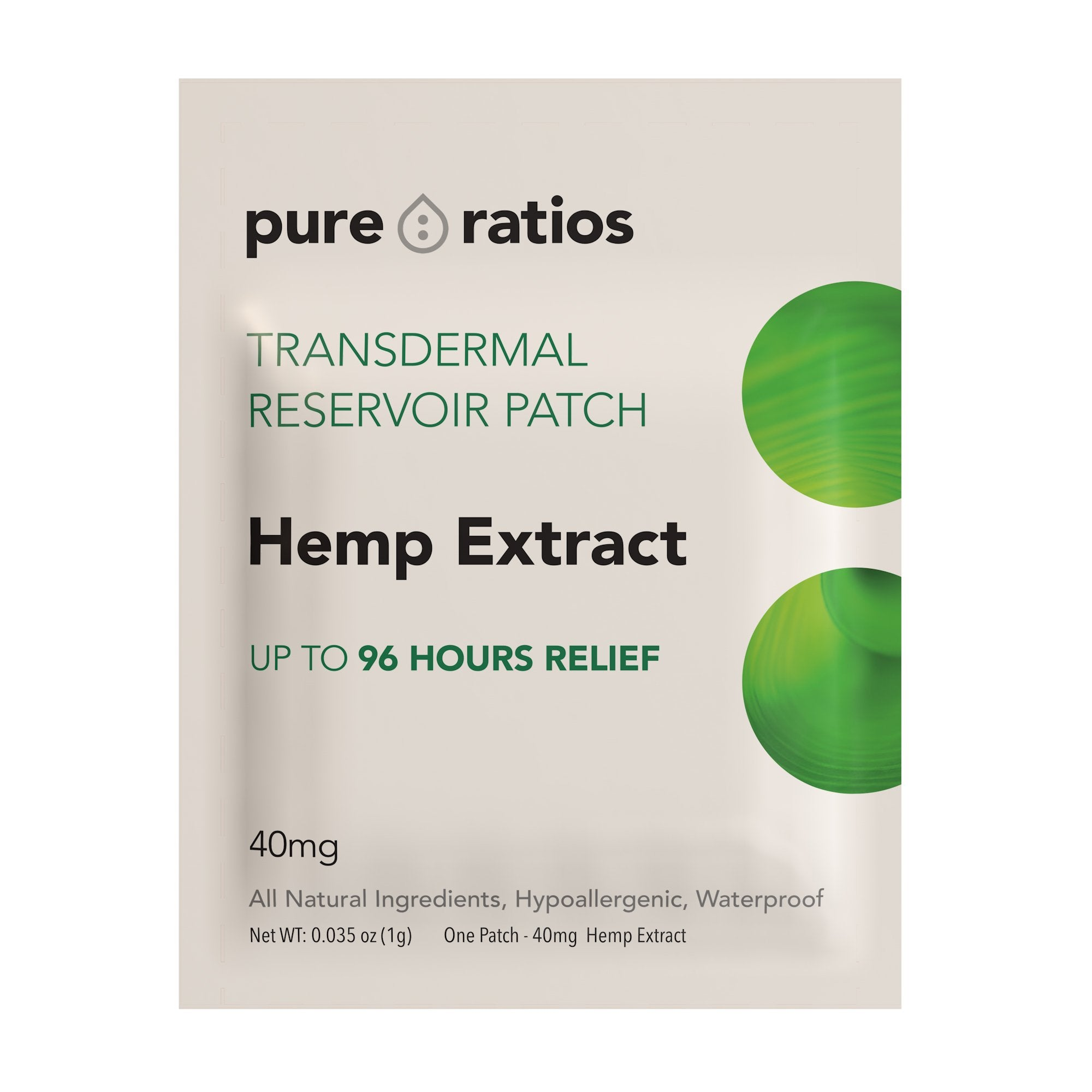 Pure Ratios Hemp Patch
