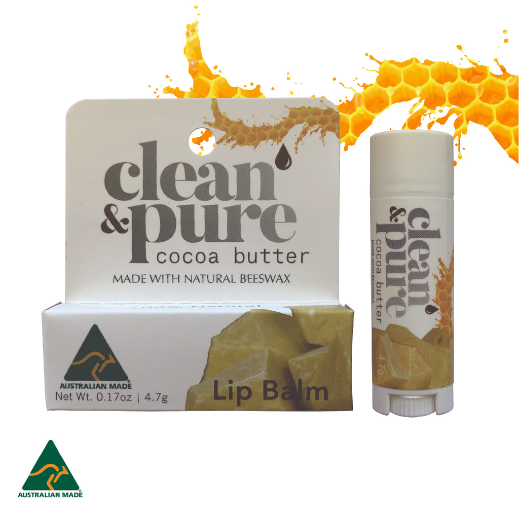 Cocoa Butter Lip Balm - Clean & Pure Australia