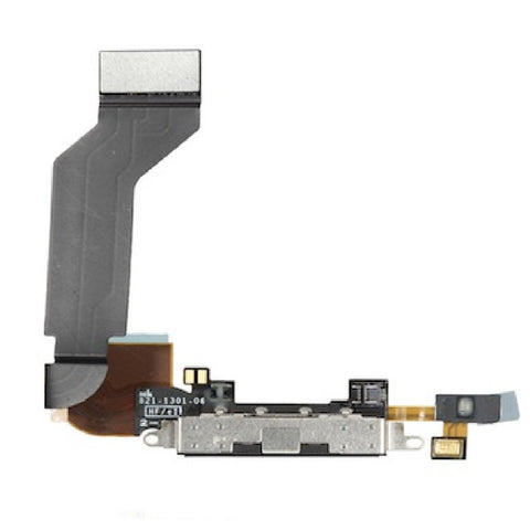 Black Dock Connector With Microphone Replacement for iPhone 4S - FormyFone.com  - 1