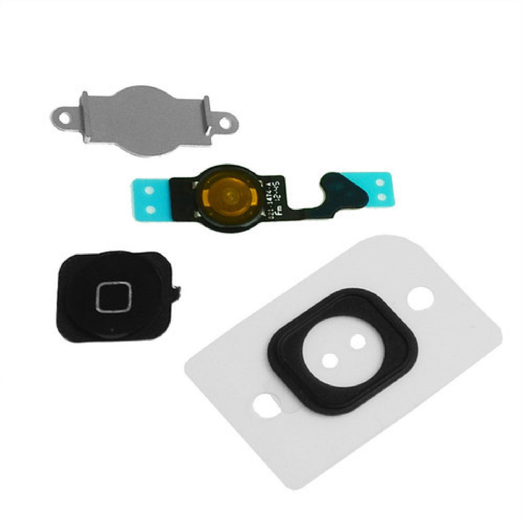 Black Home Button Set Replacement For iPhone 5 - FormyFone.com  - 1