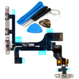 Power Button Flex Cable With Volume Buttons With Brackets For iPhone 5C - FormyFone.com  - 2
