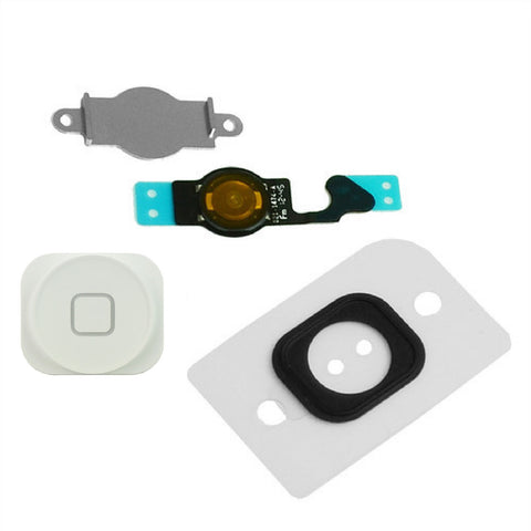 White Home Button Set Replacement For iPhone 5 - FormyFone.com  - 1