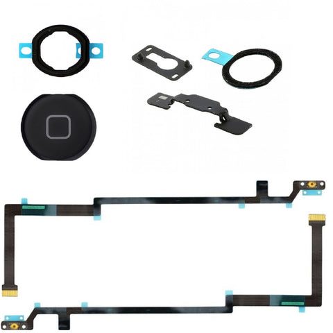 Black Home Button Replacement Kit for iPad Air - FormyFone.com  - 1
