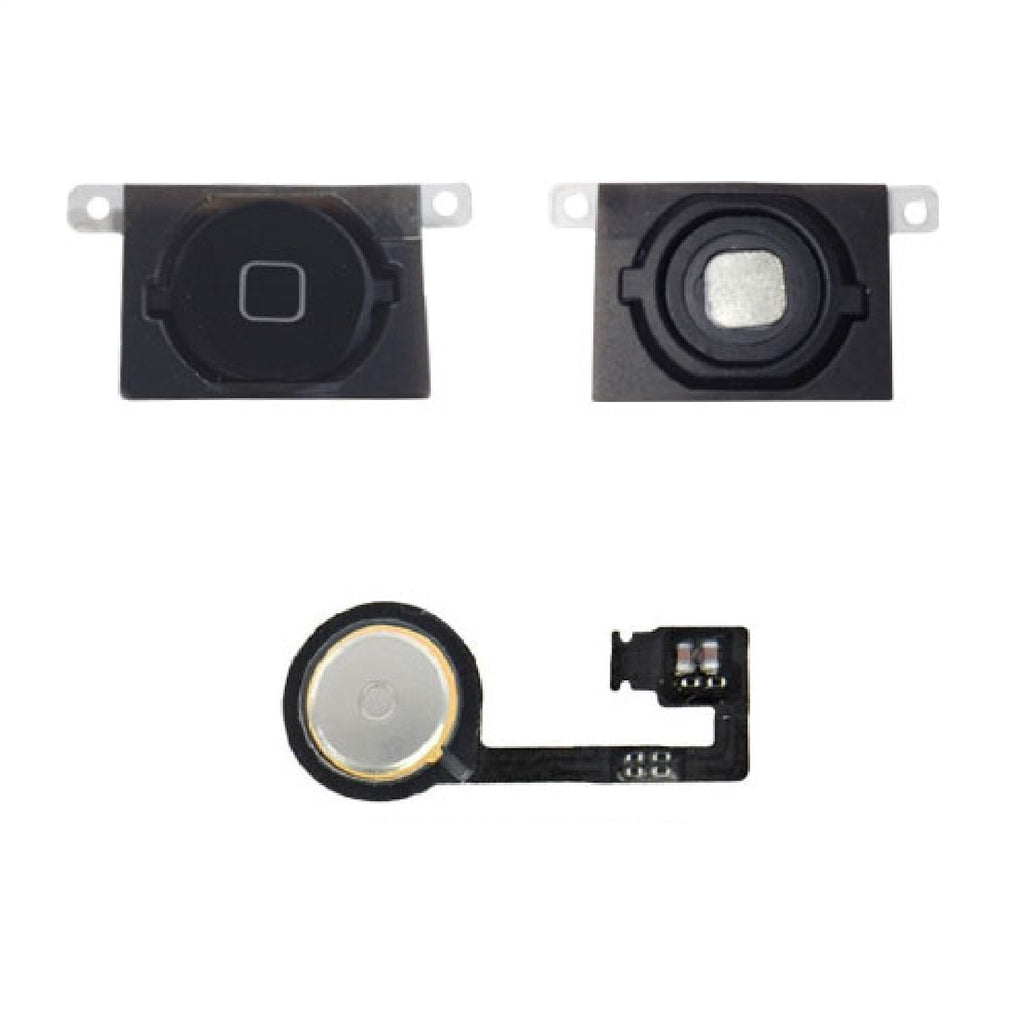 Black Home Button With Flex Cable Replacement for iPhone 4S - FormyFone.com