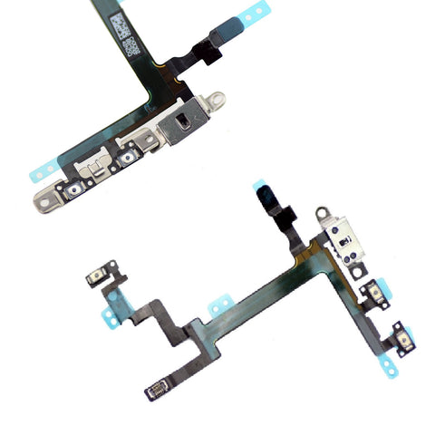 Replacement Power Flex Cable Volume Buttons & Mute Switch With Brackets For iPhone 5 - FormyFone.com