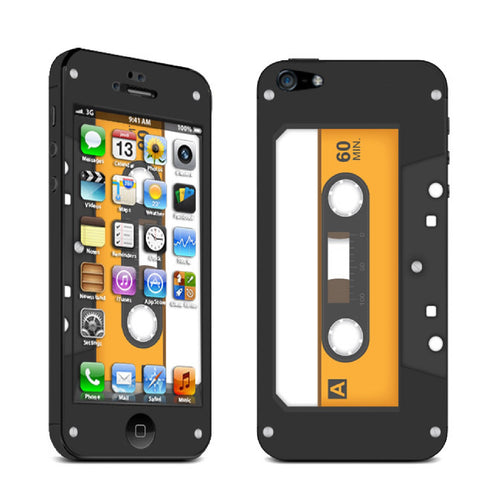 Retro Cassette Tape Vinyl Skin Sticker For iPhone 5 & 5S