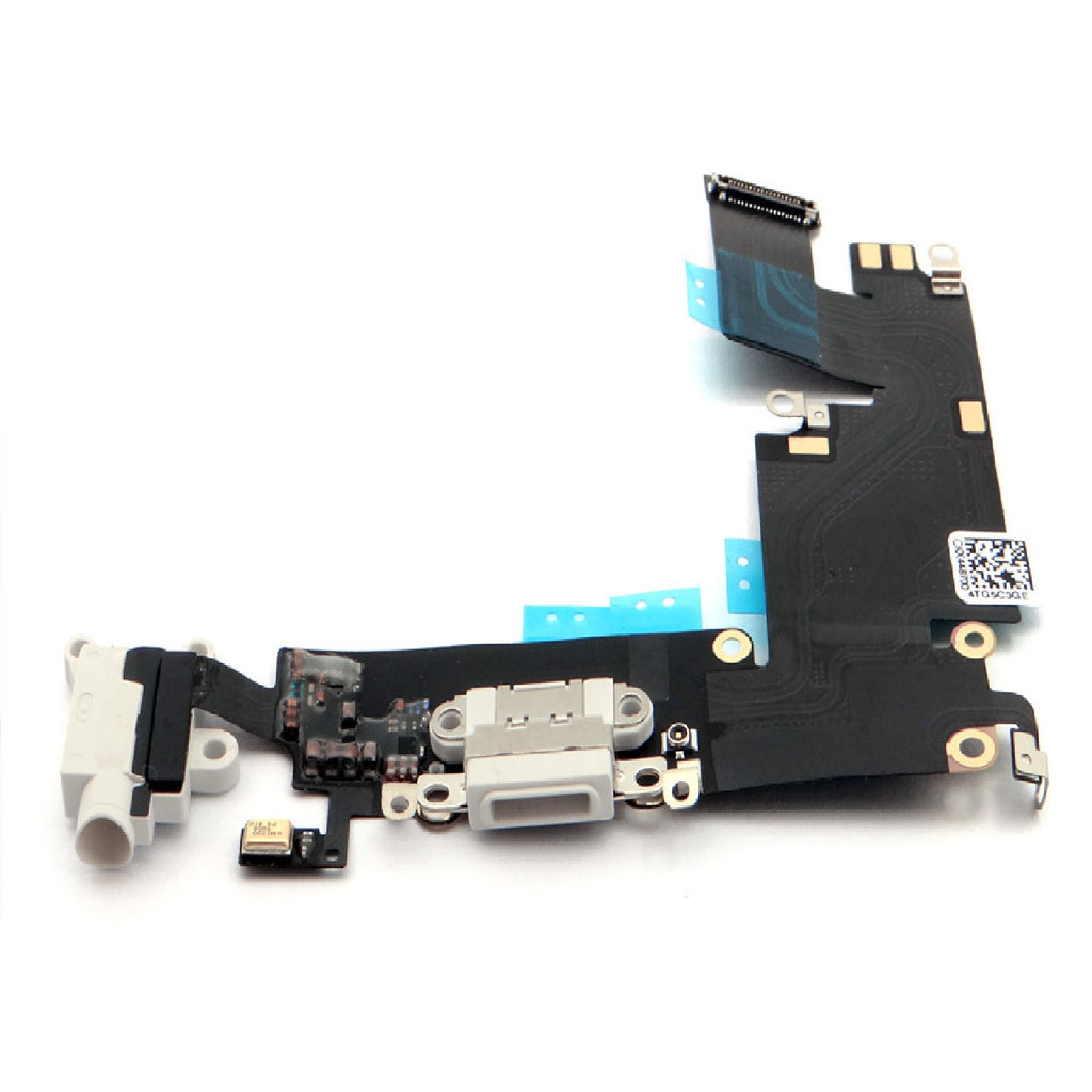 White Dock Connector Headphone Jack Microphone Flex Replacement For iPhone 6 Plus - FormyFone.com  - 1