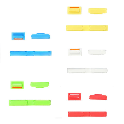 Replacement 3 Piece Button Set For iPhone 5C - FormyFone.com