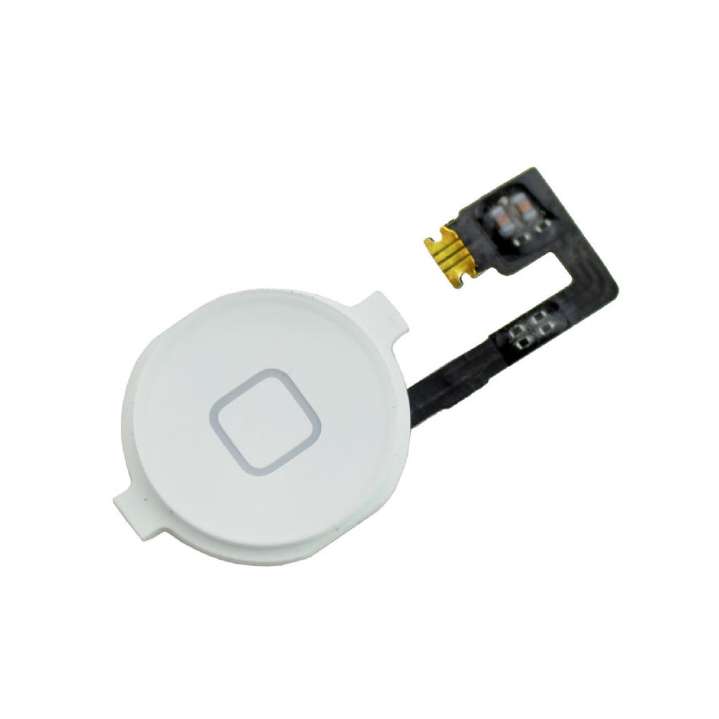 Replacement White Home With Flex Cable For iPhone 4 - FormyFone.com