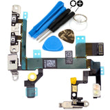 power flex cable with volume buttons and mute switch for iphone 5s