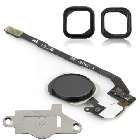 Black Replacement Home Button & Flex Cable For iPhone 5S - FormyFone.com - 1
