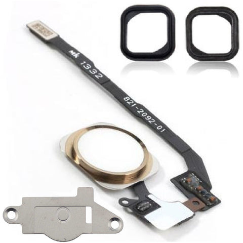 iPhone 5S Gold & White Replacement Home Button & Flex Cable - FormyFone.com  - 1