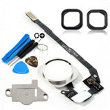 White & Silver Home Button Replacement Kit for iPhone 5S - FormyFone.com  - 2