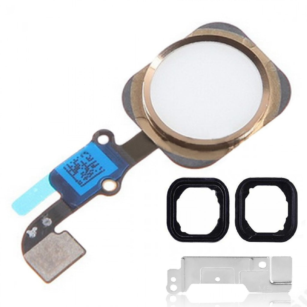 White & Gold Replacement Home Button for iPhone 6 with Seal & Bracket - FormyFone.com  - 1