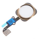 White & Gold Home Button Flex Cable Replacement for iPhone 6S Plus