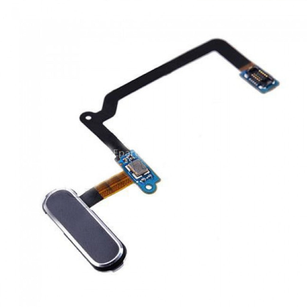 Black & Silver Home Button Flex Cable Replacement For Samsung Galaxy S5