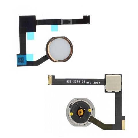 Gold Home Button Menu Button Flex Cable Replacement for iPad Air 2