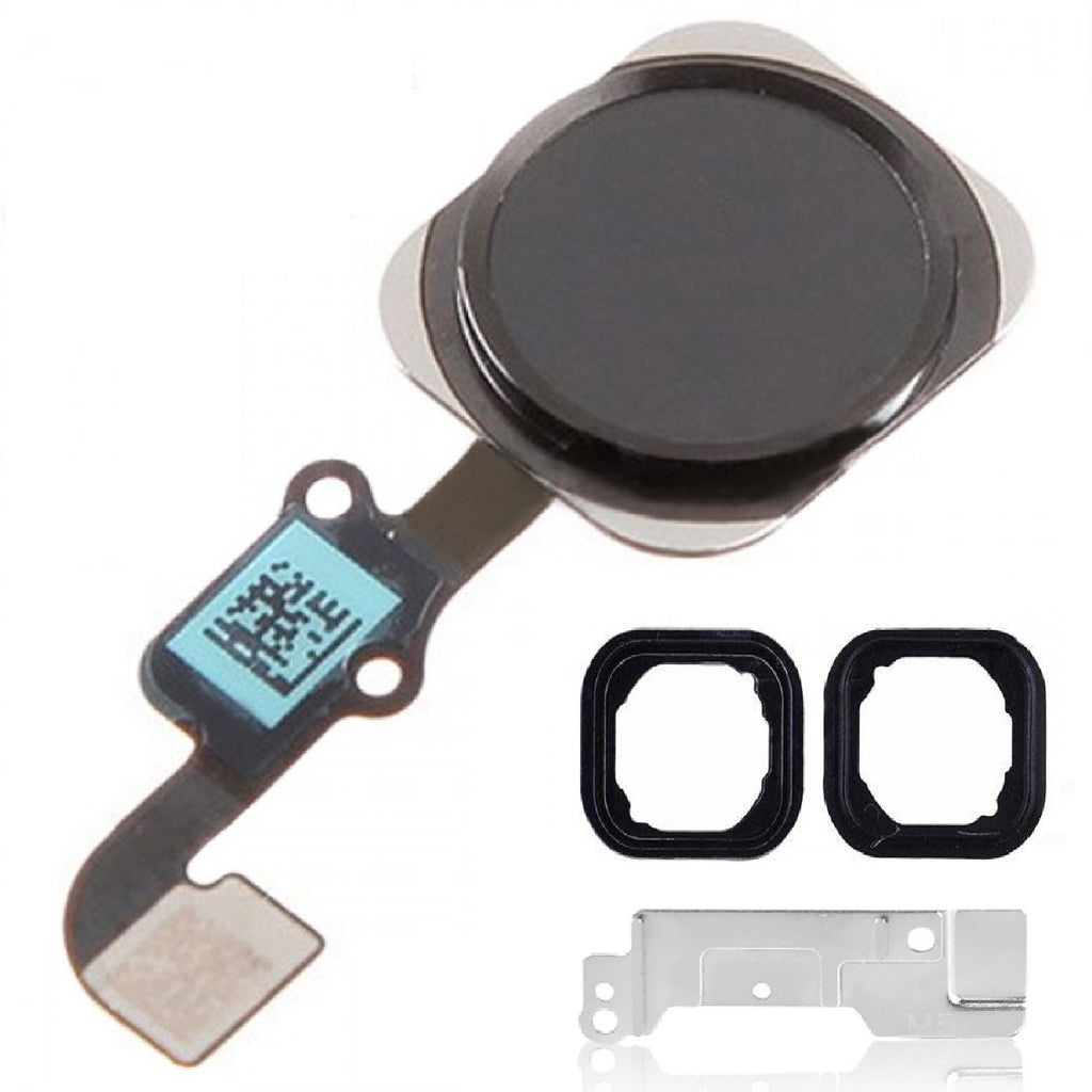 "Black Home Button Assembly Replacement for iPhone 6 Plus 5.5"" With Seal & Bracket - FormyFone.com  - 1"